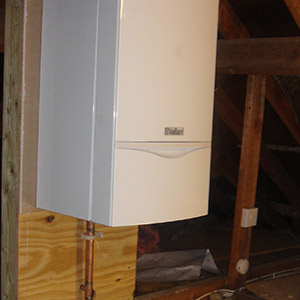 Moving boiler into the loft