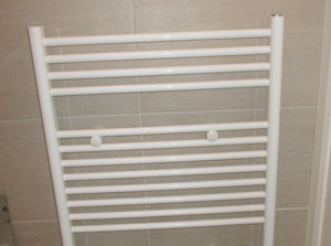 installation of a new towel radiator